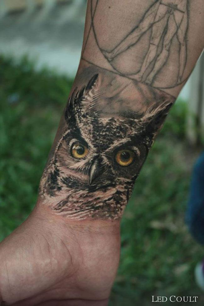 Slection de 20 magnifiques tatouages avec des Hiboux Inkage
