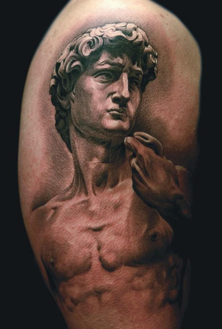 un tatouage avec un dieu grec inkage. Black Bedroom Furniture Sets. Home Design Ideas