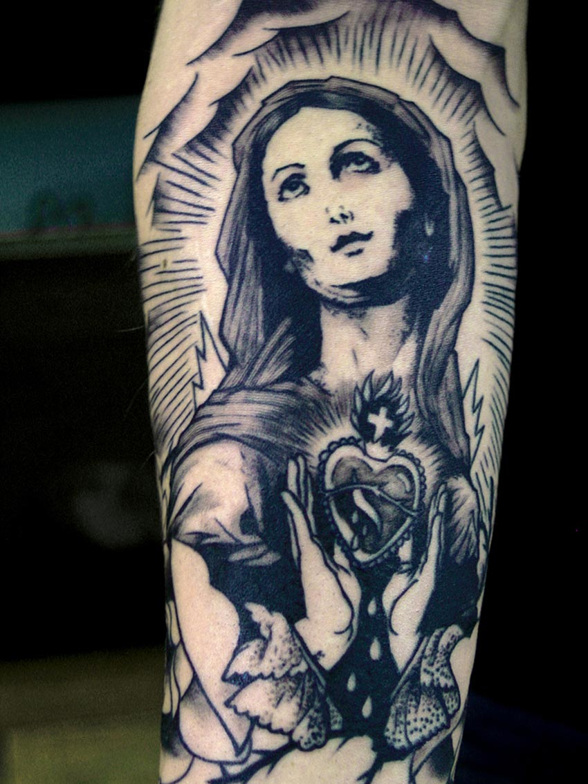 Tatouage Vierge Tatouage Inkage