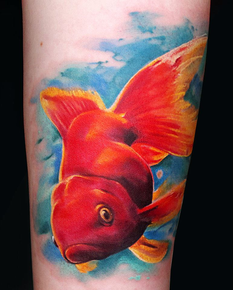 Tatouage poisson rouge inkage for Poisson rouge koi