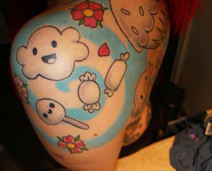 tatouage bonbon