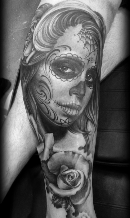 tatouage d une catrina santa muerte katrina inkage. Black Bedroom Furniture Sets. Home Design Ideas