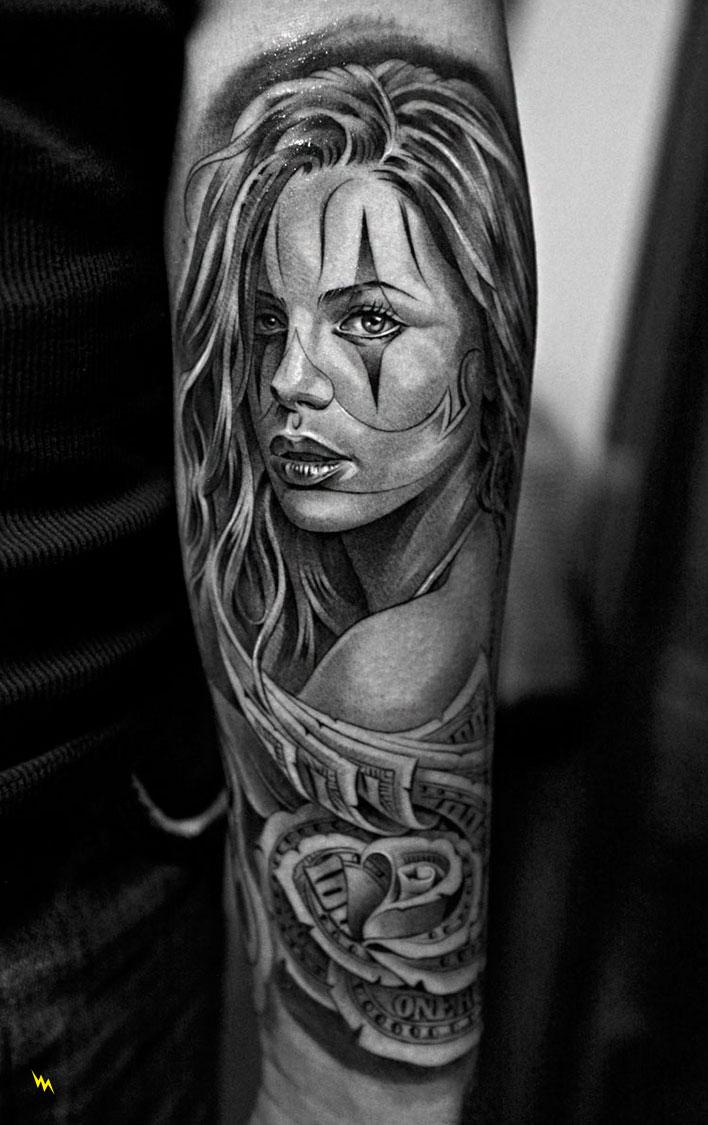 Tatouage santa muerte catrina inkage - Santa muerte tatouage signification ...