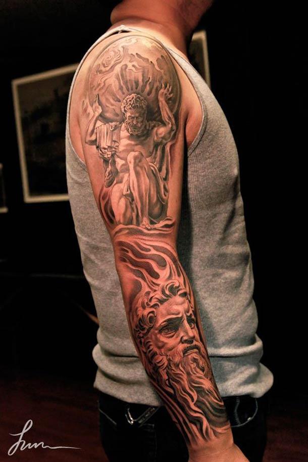 Un Tattoo De Statue Inkage