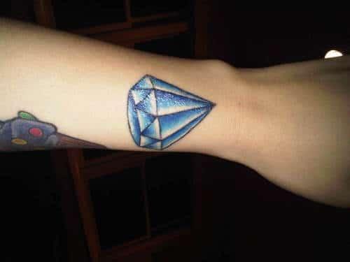 Tatouage Diamant Sur Le Bras Inkage