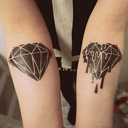 Tatouage Diamant Sur Les Avant Bras Inkage