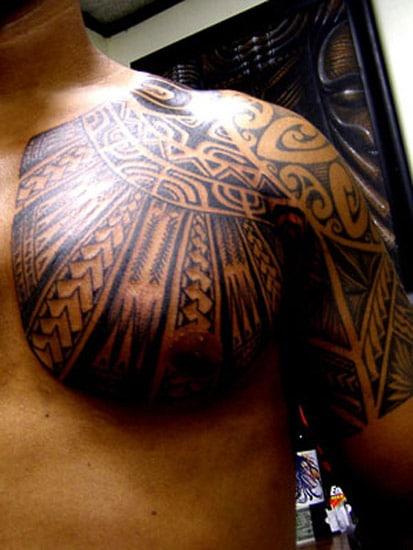 Tatouage Maori Torse Et Bras Inkage