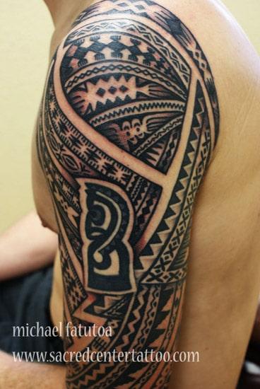 tatouage maori polyn sien haut du bras inkage. Black Bedroom Furniture Sets. Home Design Ideas