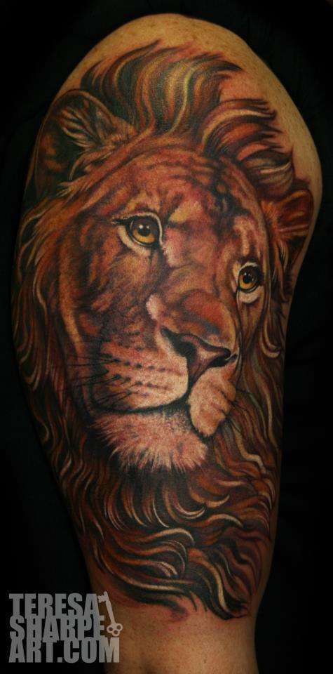 Tatouage Tete De Lion Sur Le Bras Inkage