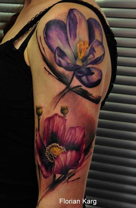 Tatouage Fleur sur le bras