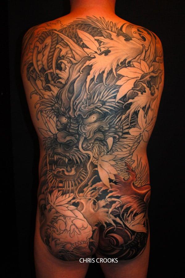 Tatouage Japonais Dragon Dans Le Dos Inkage