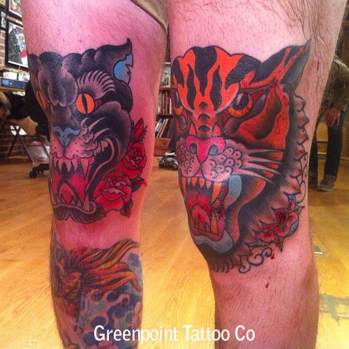 un tatouage old school tigre – inkage