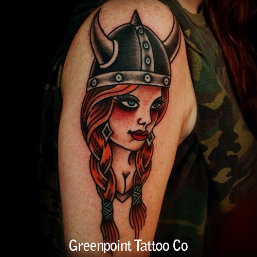 tatouage old school femme viking inkage. Black Bedroom Furniture Sets. Home Design Ideas