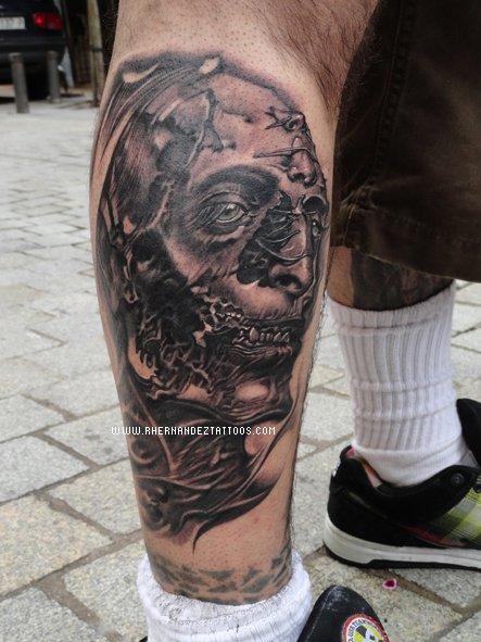 Tatouage Visage De Zombie Inkage