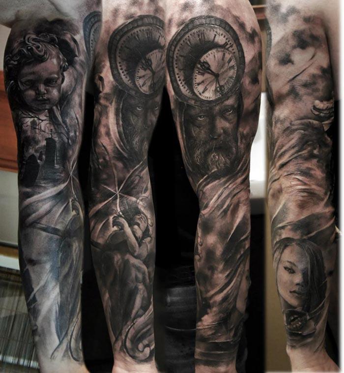 Tattoo Realiste Horloge Pret A Taux Zero