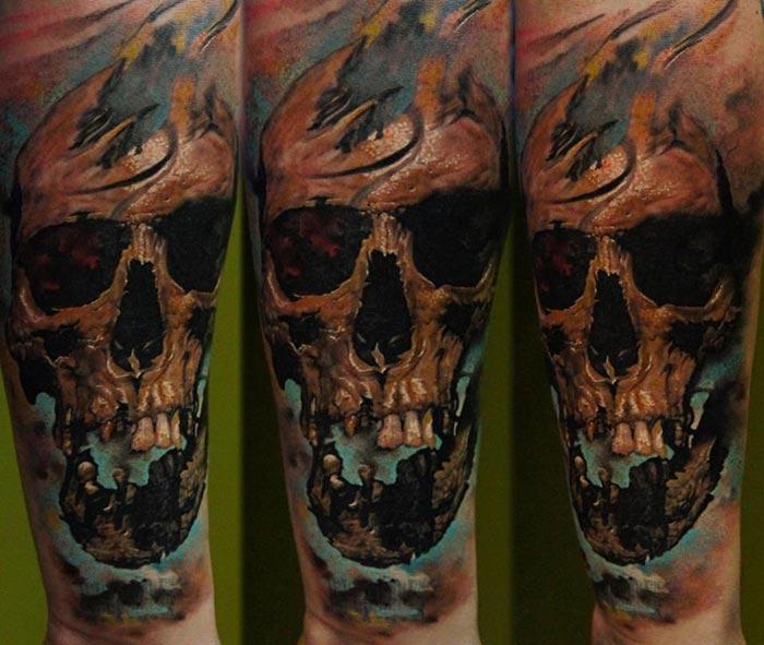 Tatouage Tete De Mort Realiste Stunning Tatouage Manchette Homme
