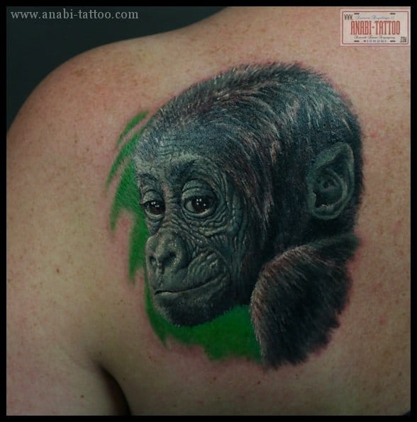 Tattoo for Baby monkey tattoos