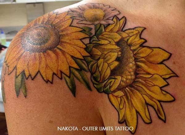 Tatouage Fleur De Tournesol Inkage