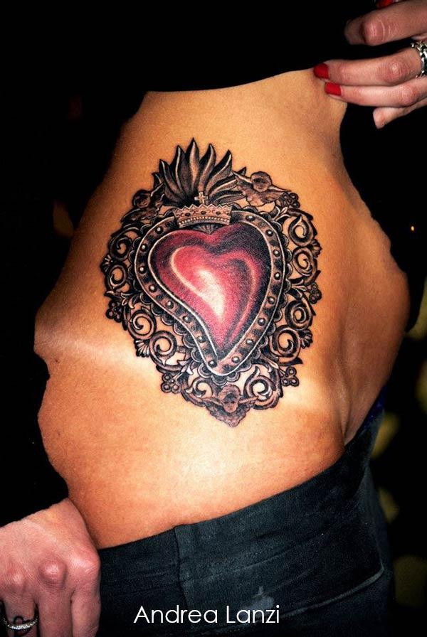 modele tatouage coeur cool tatouage gomtrique femme. Black Bedroom Furniture Sets. Home Design Ideas