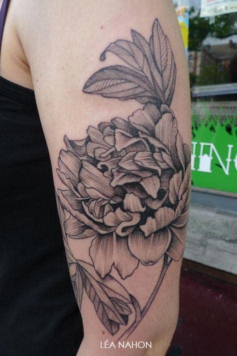 Tatouage Fleur Graphique Inkage