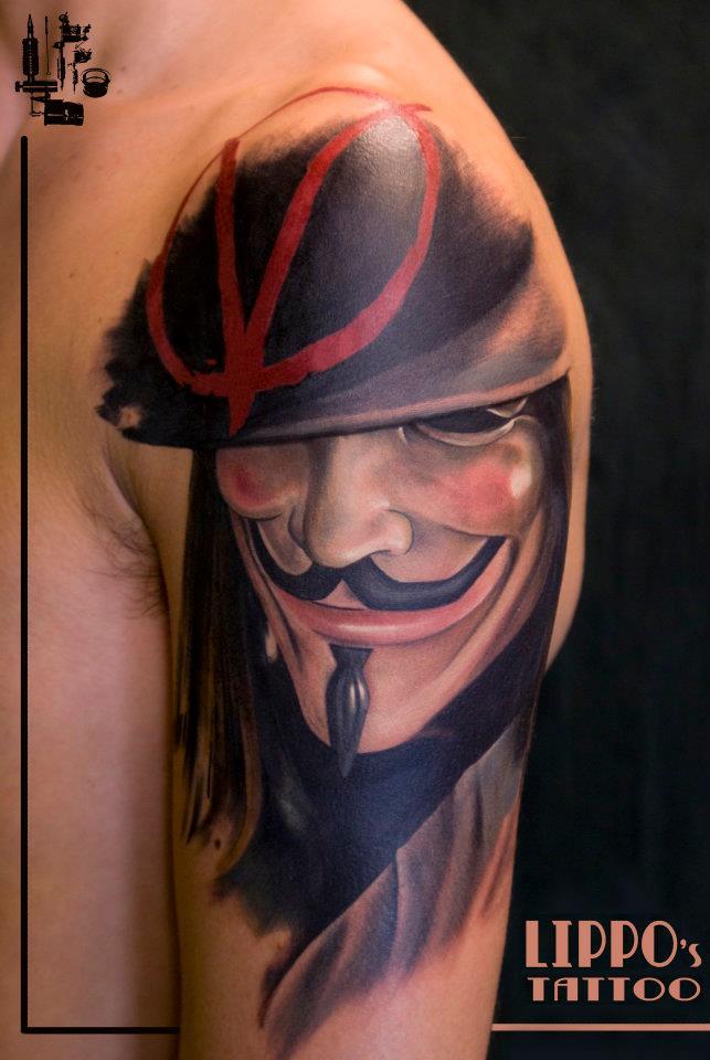 V For Vendetta Tattoo Ideas Anonymous V Tattoo Pin...