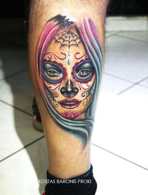 De La Santa Muerte Tattoos Car Tuning
