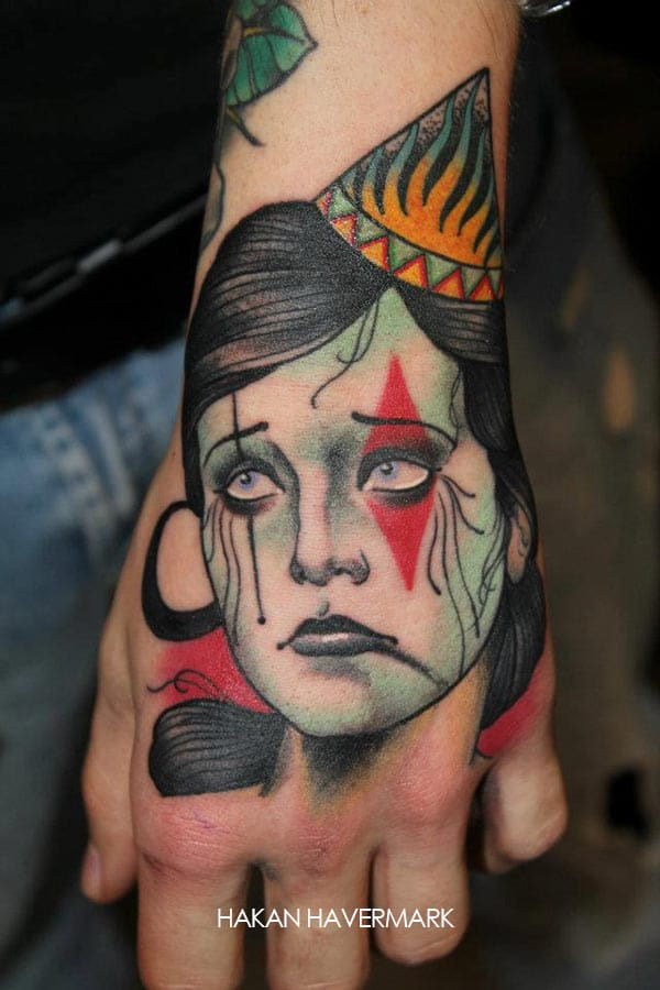 Tatouage Visage Femme Triste Kolorisse Developpement