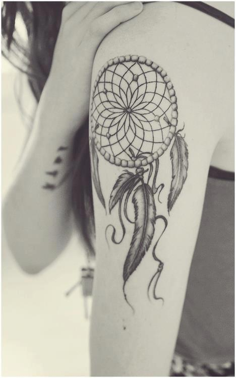 Tatouage dreamcatcher attrape r ves 21 inkage - Tatouage attrape reve homme ...
