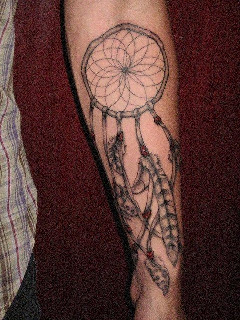 Tatouage dreamcatcher attrape r ves 4 inkage - Tatouage attrape reve homme ...