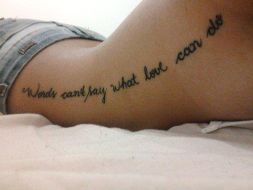 Favori Tatouage lettrage écriture « Can't say what love » – Inkage KZ78