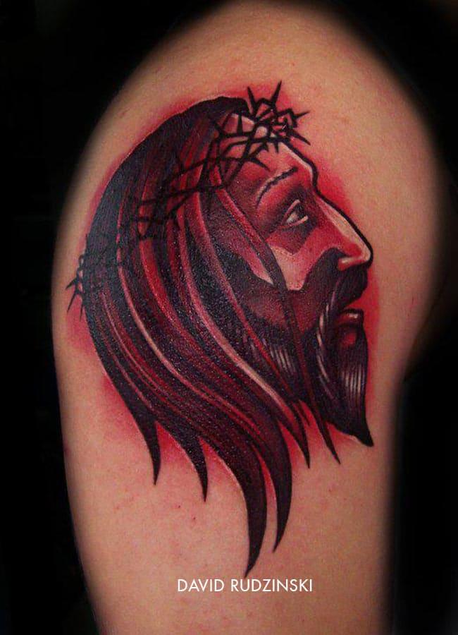 Tatouage Portrait De Jesus Christ Inkage