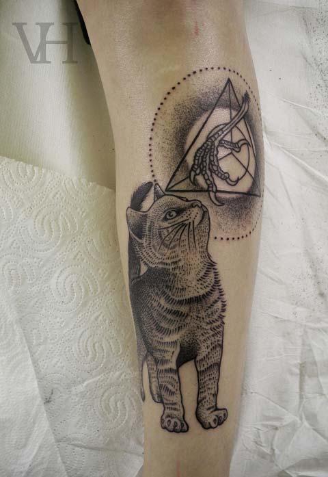 tatouage chat patte de poulet – inkage