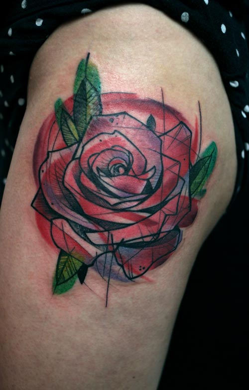 Tatouage Rose Graphique Inkage