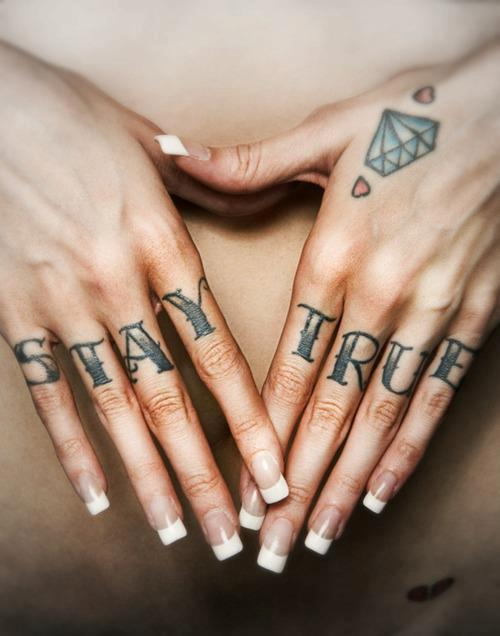Favori Tatouage lettrage écriture « stay true » – Inkage AS98