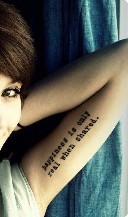 Quote Tattoos On Peck