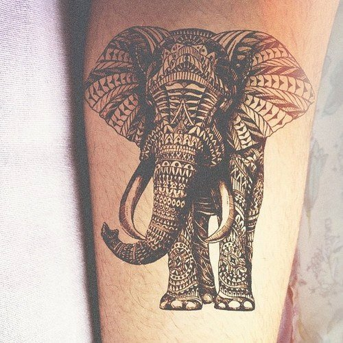 tribal tattoo meanings thai 05  Inkage Tatouage éléphant