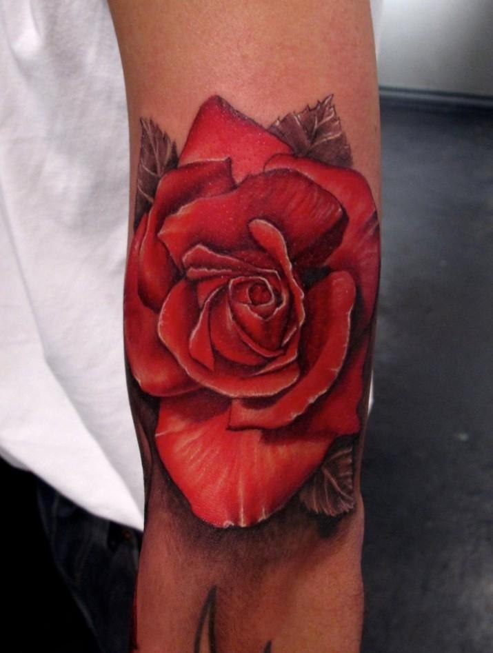 tatouage fleur rose tattoo 02 inkage. Black Bedroom Furniture Sets. Home Design Ideas