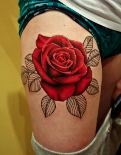 Tatouage Fleur Rose Tattoo 24 Inkage