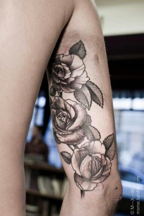 Tatouage Fleur Rose Tattoo 26 Inkage