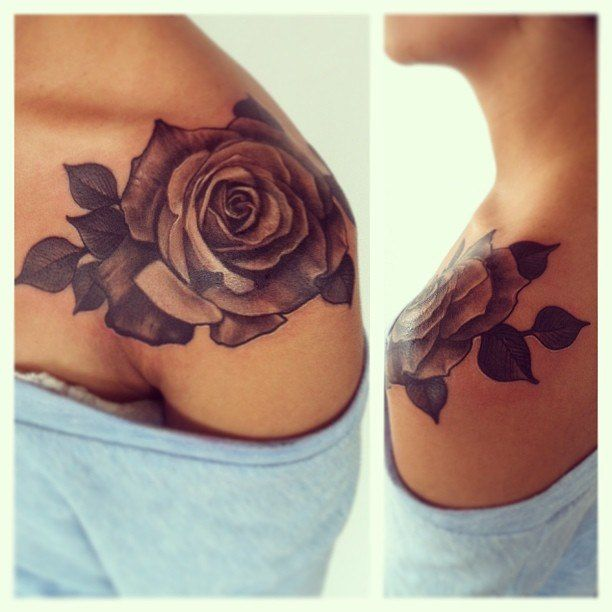 tatouage fleur rose tattoo 05 inkage. Black Bedroom Furniture Sets. Home Design Ideas