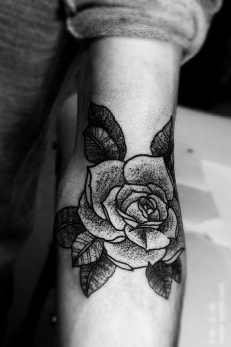 tatouage fleur rose tattoo 07 inkage. Black Bedroom Furniture Sets. Home Design Ideas