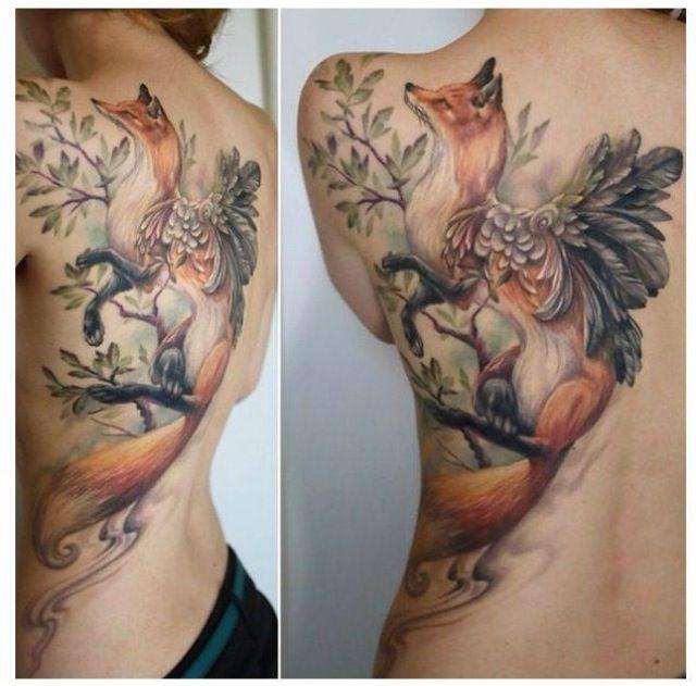 tatouage de renard tattoo 06 inkage. Black Bedroom Furniture Sets. Home Design Ideas