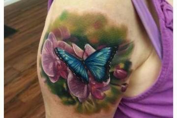 Tatouage japonais carpe koi jaune sur le bras inkage for Koi papillon