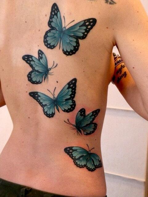 Pin Oiseaux Tatouage Papillon Et Arabesque Tatouages Tattoo on ...
