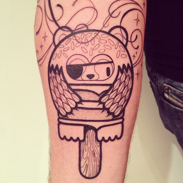 Tatouage Ours Sucette Inkage