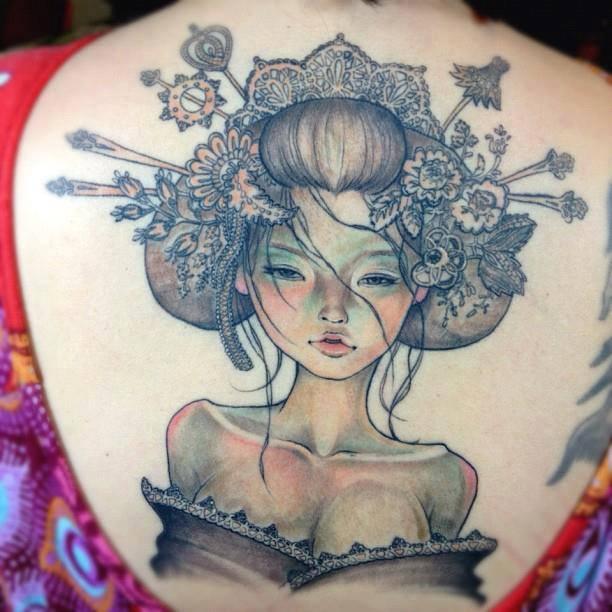 Un tatouage de Geisha 3