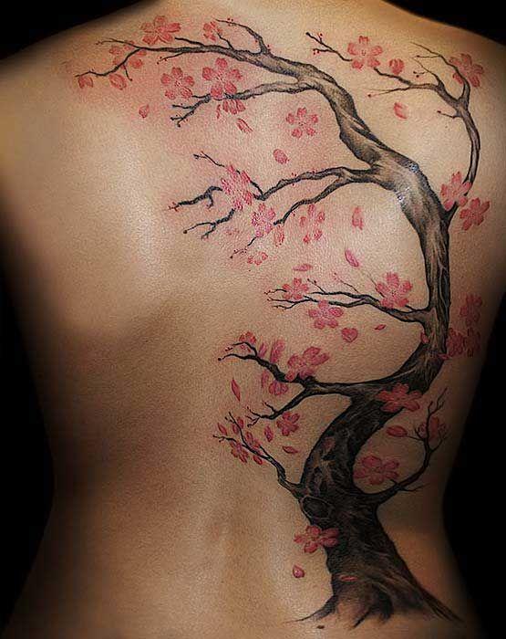 Un Tatouage De Branche De Cerisier 13 Inkage