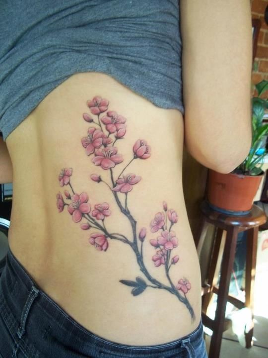 Un Tatouage De Branche De Cerisier 20 Inkage