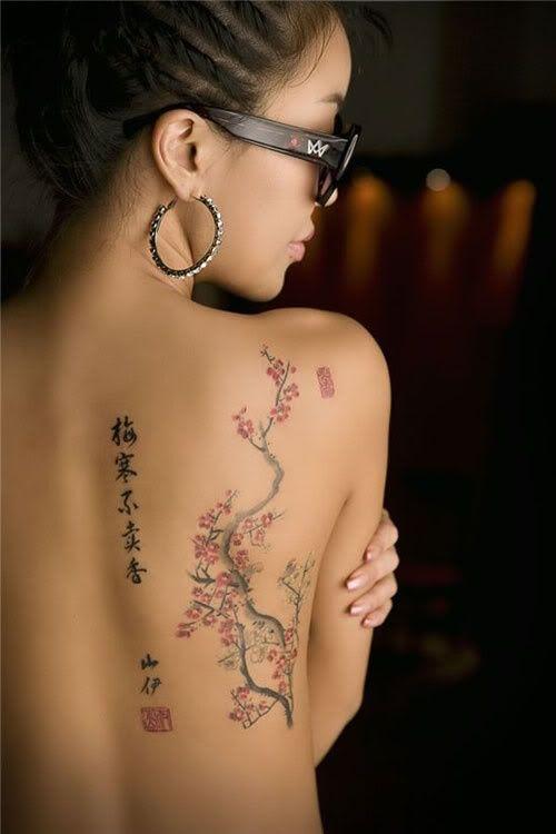 un tatouage de branche de cerisier 27 inkage. Black Bedroom Furniture Sets. Home Design Ideas