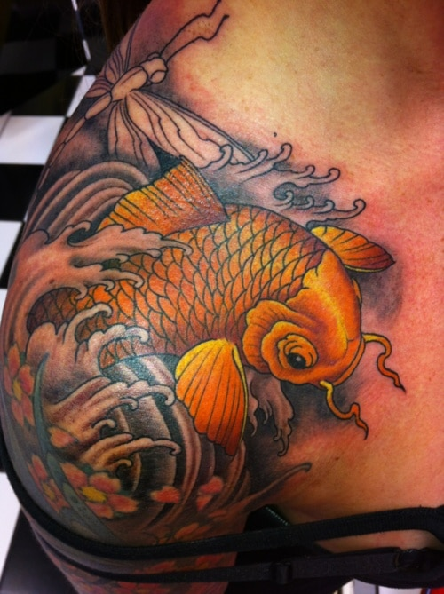 Tatouage carpe koi 33 inkage for Poisson koy